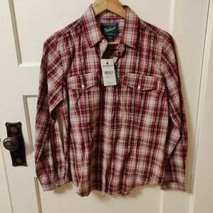 Woolrich plaid shirt size small ✨with tags